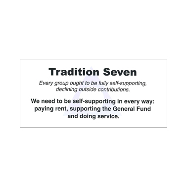 UK96 Tradition Seven Table Card*